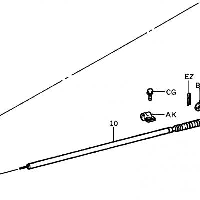 Toyota 3SDK5 Accelerator Cable