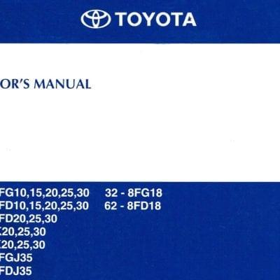 Forklift Manual - Toyota 8 Series Operators Manual