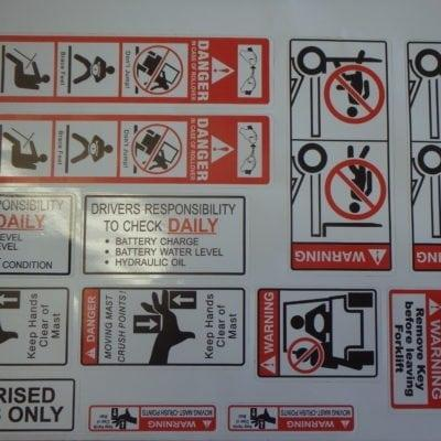 Forklift Safety Stickers